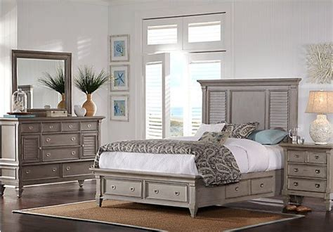 bedroom furniture rooms to go belmar gray 7 pc king panel bedroom w storage 2 255 00 find affordable king bedroom sets for