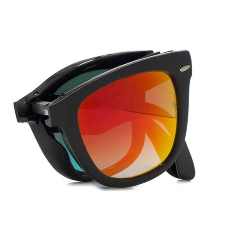 Raybn Wayfarer Folding Black ban folding wayfarer sunglasses in matte black