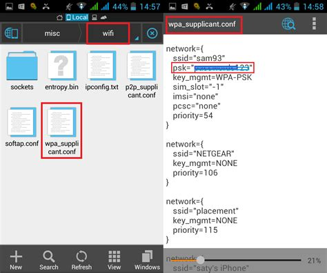 how to find wifi password android how to view saved wi fi passwords in android one click root
