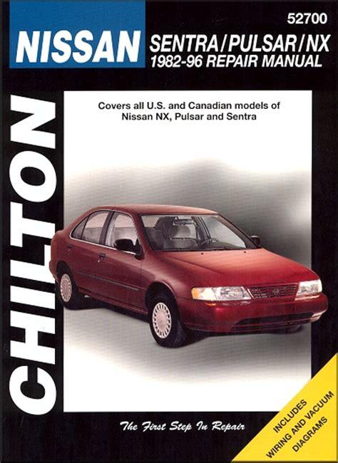 nissan sentra pulsar nx repair manual 1982 1996 chilton 52700