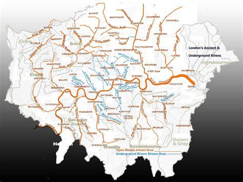 rivers of london the london map and subterranean rivers sandra crisp