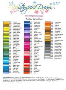 tombow color chart sters tombow marker chart