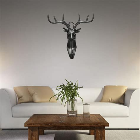 new resin deer stags hook hanger rack holder wall