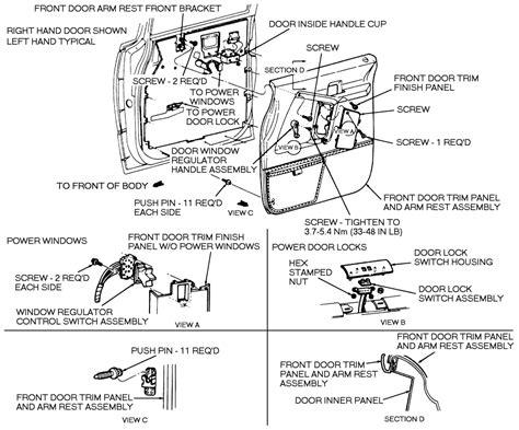 service manual how to remove door trimford 1993 2002 mercury truck villager wagon 3 3l sfi sohc 6cyl repair guides interior door panels