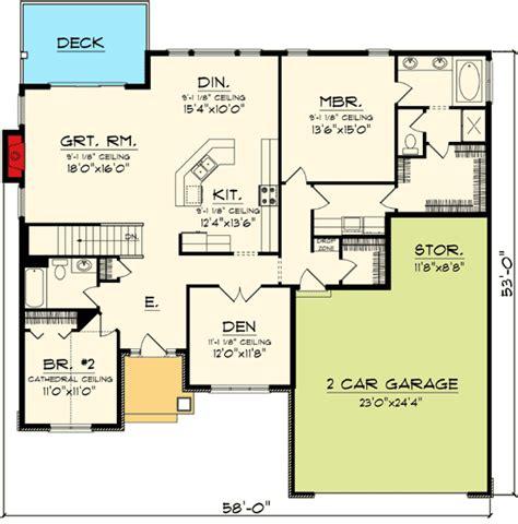 Ranch Open Floor Plans by Plan 89845ah Open Concept Ranch Home Plan Craftsman