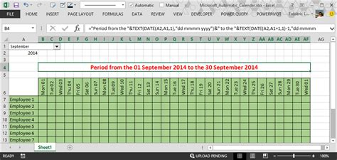 make excel calendar how to make automatic calendar in excel