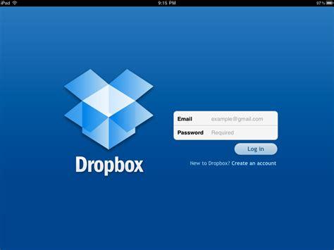 dropbox what is it the dropbox ipad login screen cloud storage buzz