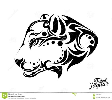 tribal tattoo jacksonville tribal jaguar stock vector image 52872641