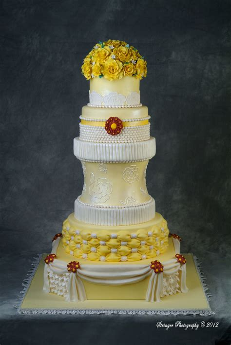 Wedding Cake Yellow Roses by Yellow Wedding Cake Cakecentral