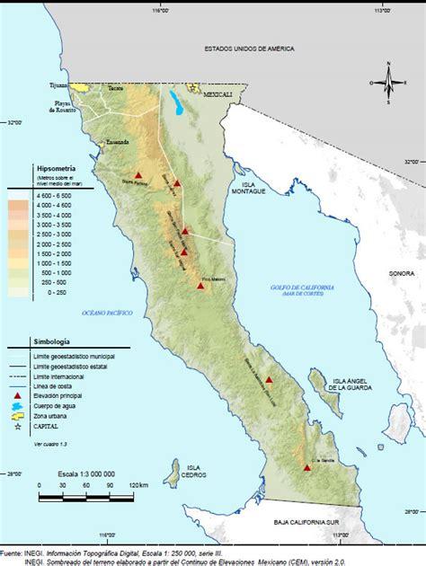 cadenas orograficas principales de mexico relieve de baja california orograf 237 a del estado
