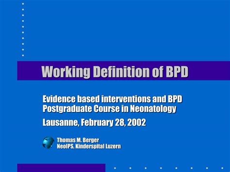 powerpoint tutorial definition ppt working definition of bpd powerpoint presentation