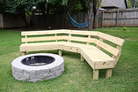 diy outdoor pit seating backyard pit and bench