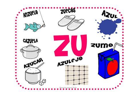 imagenes y palabras con z maestra de primaria za zo zu ce ci palabras cartel