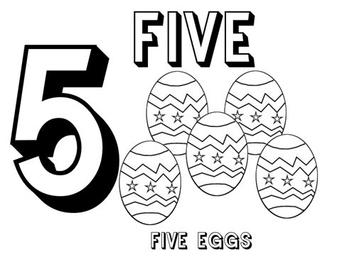 Number 5 Coloring Pages For Toddlers by Winged Strawberry Resources For Parents And Teachers