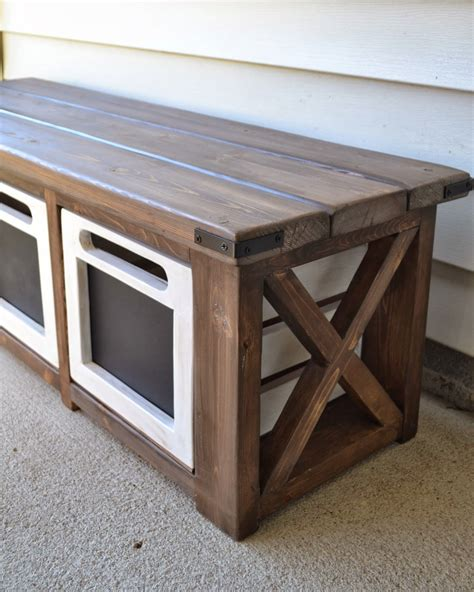 entryway bench cushion diy idea for back yard storage along the house