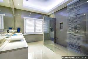 Urban Bathrooms And Kitchens - sleek and symmetrical bathroom design completehome