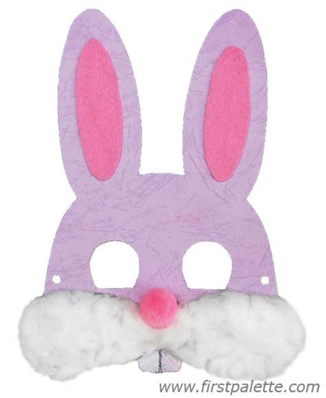 printable bunny mask printable animal masks craft kids crafts firstpalette com