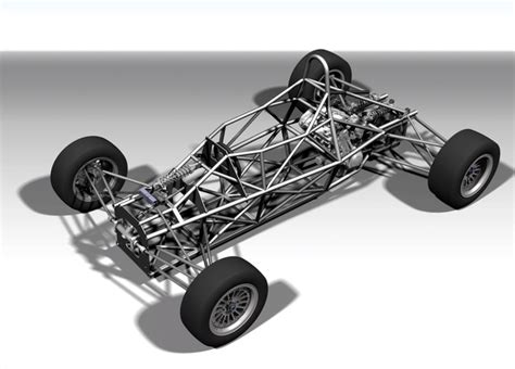 design car frame formula car full chassis catia pro engineer wildfire
