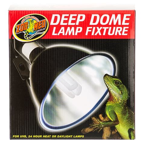 deep dome reptile l zoo med zoo med deep dome l fixture reptile ls