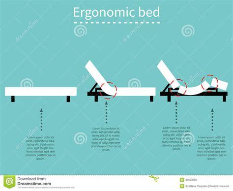 ergonomic bed ergonomic bed 1 stock vector image of mattress