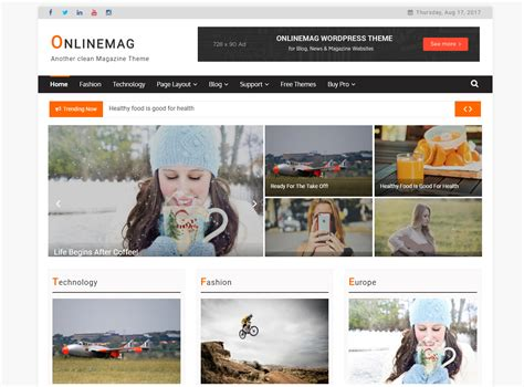 themes how i live now free magazine wordpress theme onlinemag is now live in