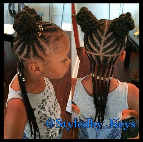 9 year old little girl hair braided witb weave kids protective style niya hairstyles pinterest