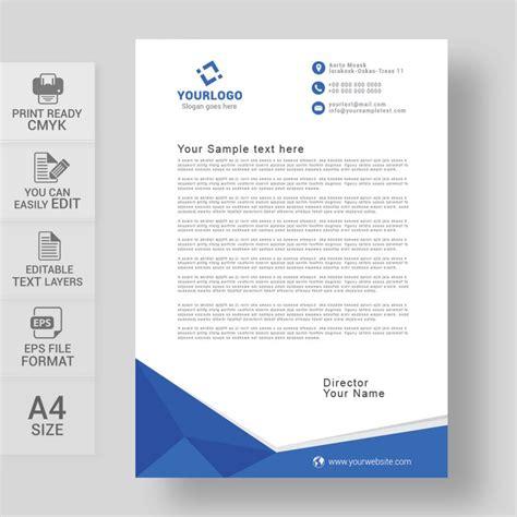 corporate blue letterhead template wisxicom