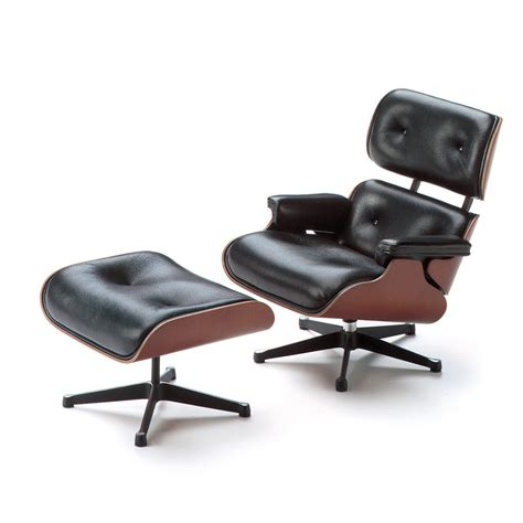 Vitra Miniature Eames Lounge Chair and Ottoman   Stardust