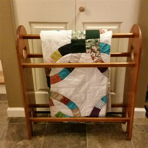 Pine Quilt Rack by Vintage Pine Wood Quilt Rack