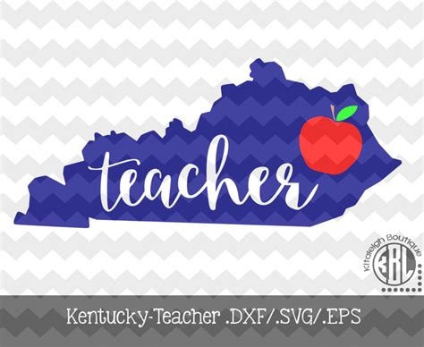 svg pattern support kentucky teacher design instant download in dxf svg eps for