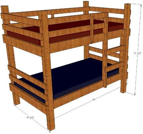 Diy Bunk Bed Plans Rustic Bunk Bed Plans You Can Build Easy Bunk Bed Plans