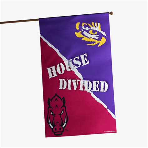 arkansas razorbacks vs lsu house divided banner