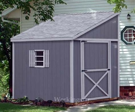 lean  roof storage shed blue prints project