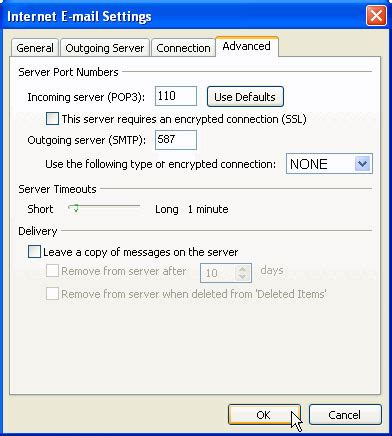 configure xp to send email outlook setup instructions