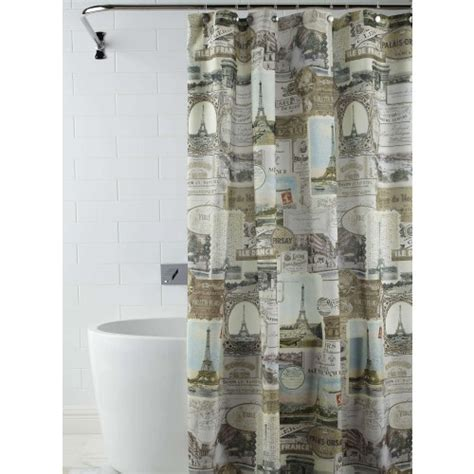 parisian shower curtain paris shower curtain