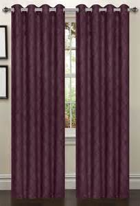 Plum Colored Curtains Lattice Blackout Curtain 2 Set Plum Moshells