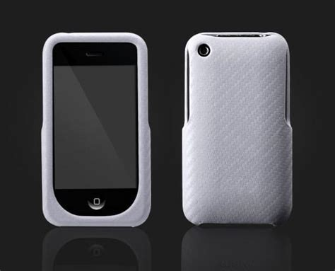 Casing Hp Iphone 3gs carbon fiber white for iphone 3gs 3g mycase