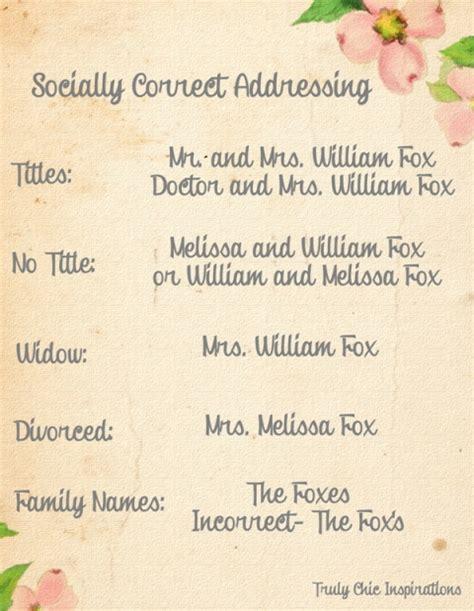 How To Properly Address Wedding Invitations