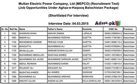 mepco test pattern nts nts list of candidates shortlisted for interview in multan