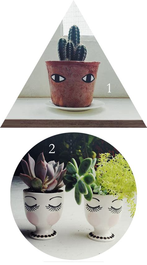 flower pots with faces on them 3