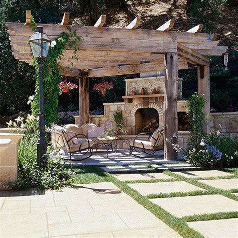 pergola with fireplace 30 best ideas for backyard fireplace and pergolas