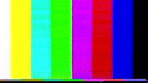 test pattern beep pal tv test color bars crash with audio stock footage