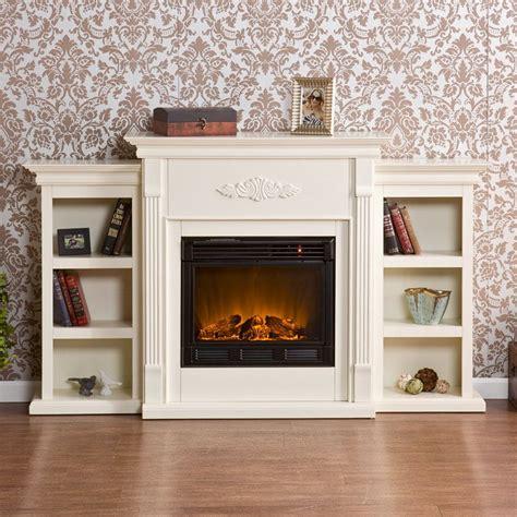 tennyson bookcase electric fireplace southern enterprises tennyson ivory electric fireplace