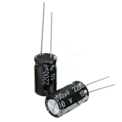 2200 uf capacitor 1pc 10v 2200uf electrolytic capacitor 10 x 17mm sale banggood sold out