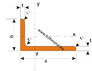 unequal angle section properties l profile steel unequal angles sections sizes