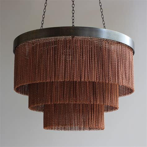 Chain Chandelier Lighting Copper Chain Shallow Chandelier Tigermoth Lighting