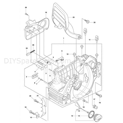 husqvarna 445 chainsaw parts diagram husqvarna 445e chainsaw 2011 parts diagram crank