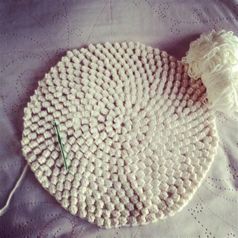 Tempat Pop Corn Stitch Pop Corn popcorn stitch crochet rug patternpiper