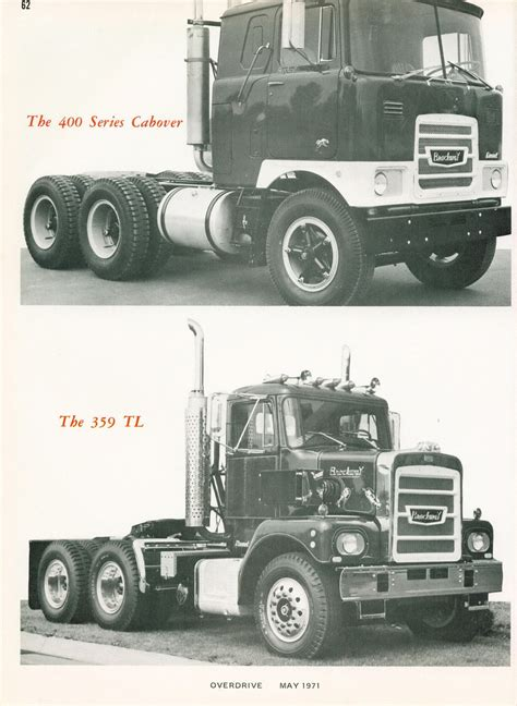 rugged trucks photo may 1971 brockway the most rugged truck in the world 27 05 overdrive magazine may 1971