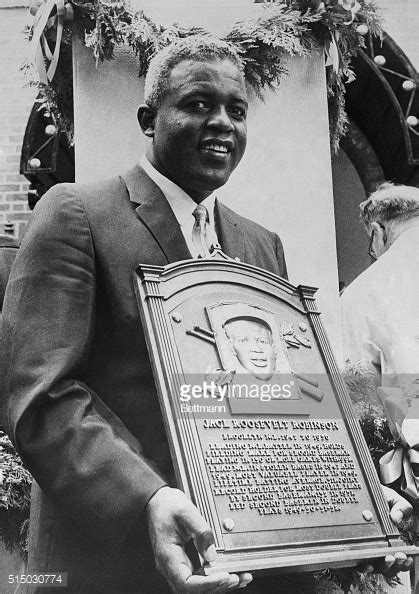 Fame Jackie Robinson jackie robinson holding plaque at of fame pictures